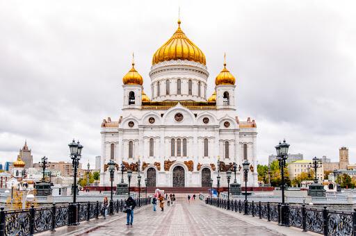 Nhà thờ ở Moscow nước Nga