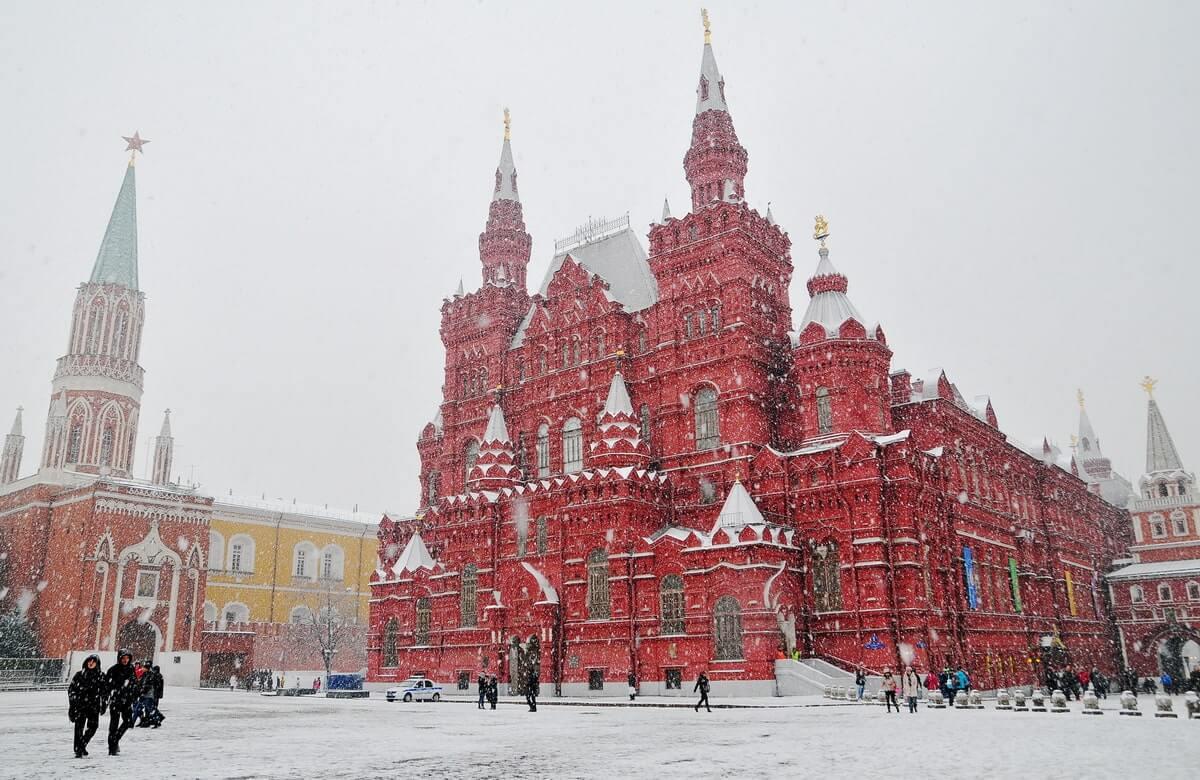 Quảng trường đỏ vào mùa đông